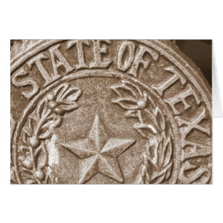 Lone Star State of Texas Card