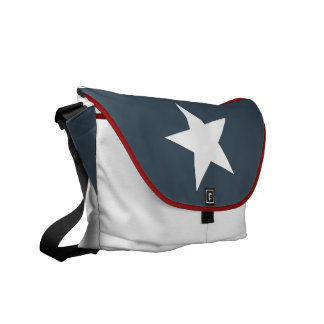 Lone star State Texas Flag Style Messenger Bag