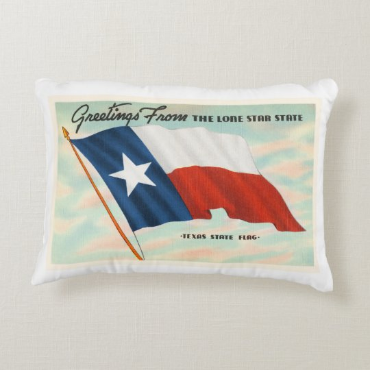 Lone Star State Texas TX Vintage Travel Souvenir Decorative Pillow