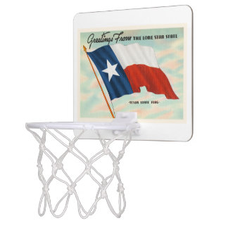 Lone Star State Texas TX Vintage Travel Souvenir Mini Basketball Backboard