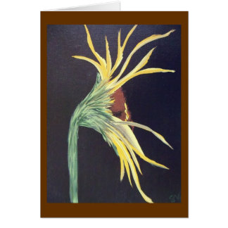 """Lone Sunflower"" Card"