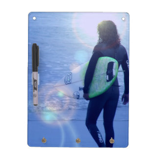 Lone Surfer Dry Erase Board