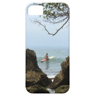Lone surfer tranquility surfing iPhone 5 covers