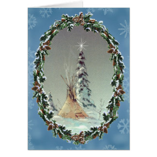 LONE TIPI & WREATH by SHARON SHARPE Card