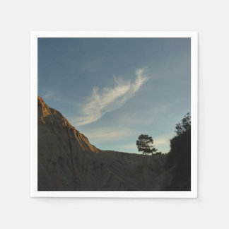 Lone Torrey Pine California Sunset Landscape Disposable Napkins