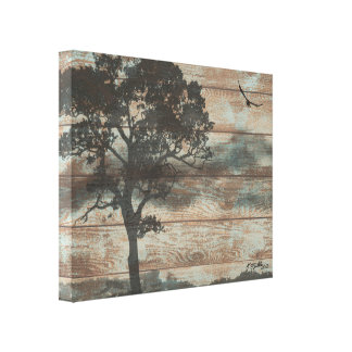 Lone Tree and Bird Canvas Print