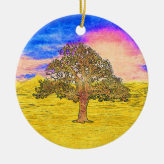 LONE TREE CERAMIC ORNAMENT