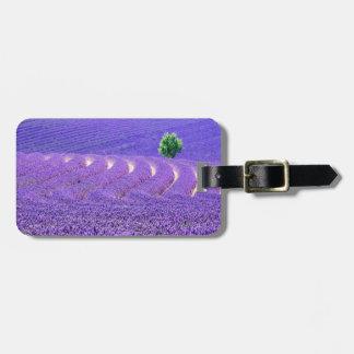 Lone tree in Lavender Field, France Bag Tag