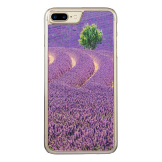 Lone tree in Lavender Field, France Carved iPhone 7 Plus Case