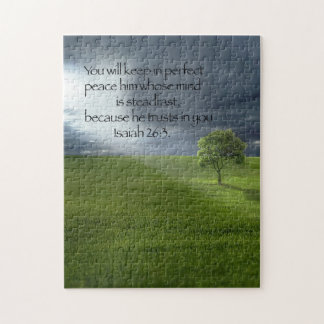 Lone Tree Sunshine Christian Bible Verse Jigsaw Puzzle
