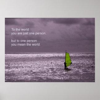 Lone Windsurfer - Friendship Poster