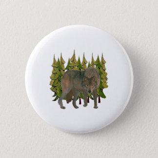 Lone Wolf 2 Inch Round Button