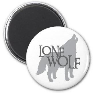 LONE WOLF 2 INCH ROUND MAGNET