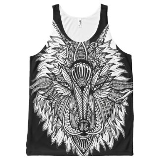 Lone Wolf All-Over-Print Tank Top
