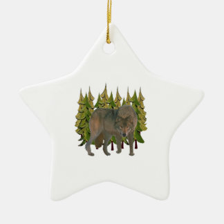 Lone Wolf Ceramic Ornament