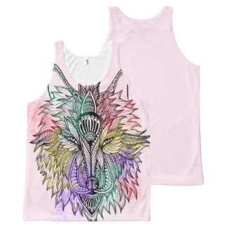 Lone Wolf Color All-Over-Print Tank Top