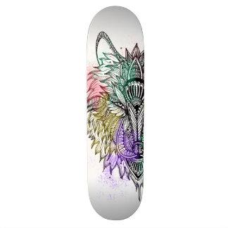 Lone Wolf Color Custom Skate Board