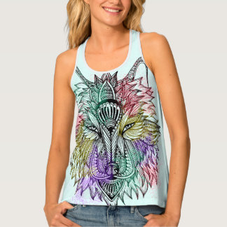 Lone Wolf Color Tank Top