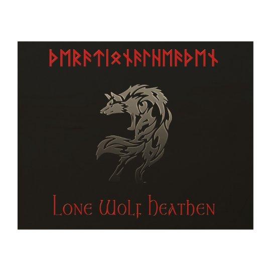 Lone Wolf Heathen Rational Heathen Wood Wall Art