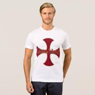 Lone Wolf Iron Cross Men's Poly-Cotton T-Shirt