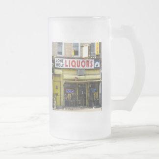 Lone Wolf Liquors Frosted Mug