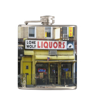 Lone Wolf Liquors Photo Flask