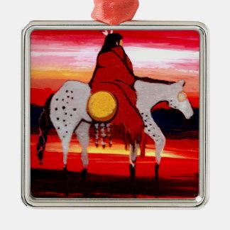 Lone Wolf Metal Ornament