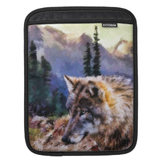 Lone Wolf Nature Landscape, iPad Mini Sleeve
