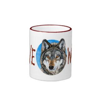 Lone Wolf Painting Ringer Mug