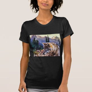 Lone Wolf Painting T-shirts