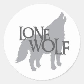 LONE WOLF ROUND STICKER