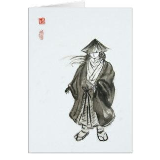 Lone Wolf Samurai Blank Card