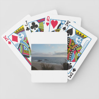 lonely beach bicycle playing cards