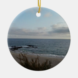 lonely beach ceramic ornament