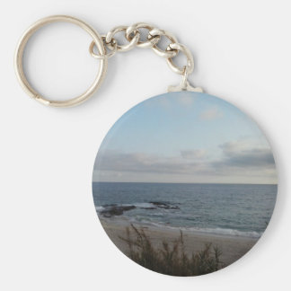 lonely beach keychain