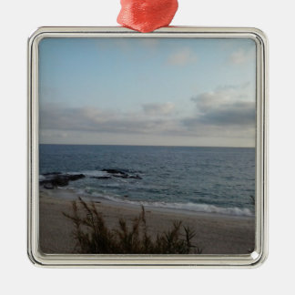 lonely beach metal ornament