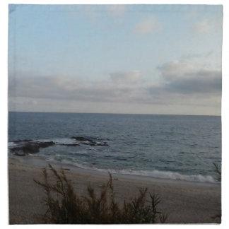 lonely beach napkin