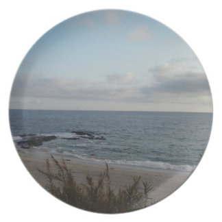 lonely beach plate