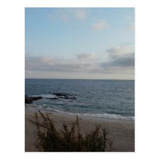 lonely beach postcard