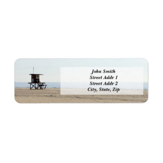 Lonely Beach Return address Label