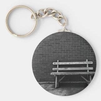 Lonely Bench Basic Round Button Keychain