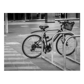 Lonely bicycle postcard