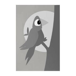 Lonely bird at night acrylic print