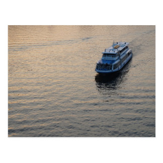 Lonely boat postcard