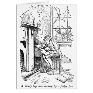 Lonely Boy (with text) Greeting Card