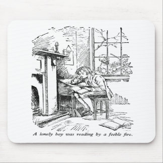 Lonely Boy (with text) Mouse Pad