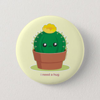 Lonely Cactus 2 Inch Round Button