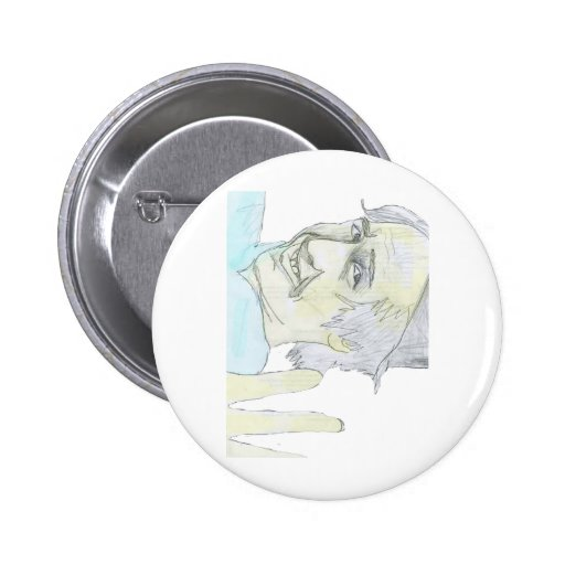Lonely Car Guy Hello Pinback Button