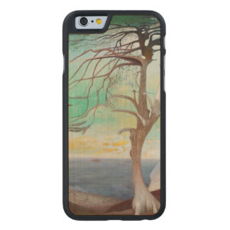 Lonely Cedar Tree Landscape Painting Carved® Maple iPhone 6 Case