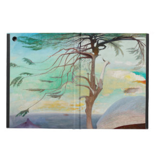 Lonely Cedar Tree Landscape Painting Case For iPad Air